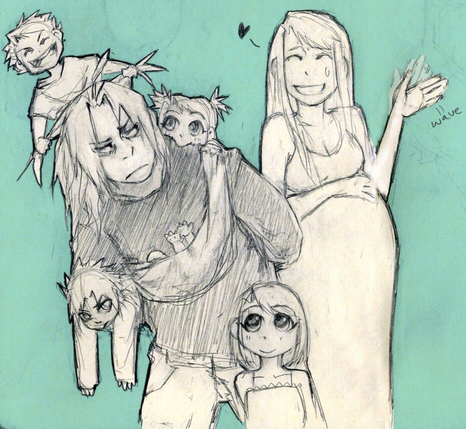 Well... Hiromu Arakawa did state that Edward & Winry had many kids in the future...