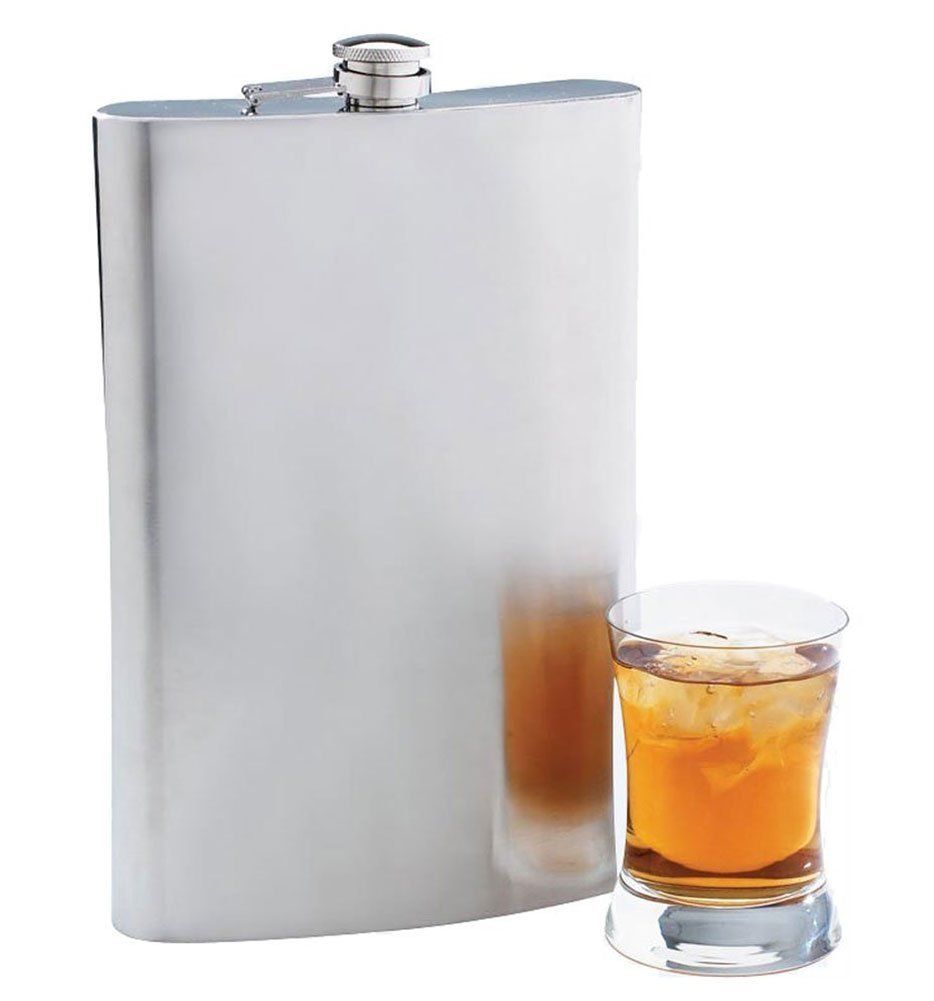 64 oz Jumbo Giant Hip Flask   Stainless steel alcohol flask