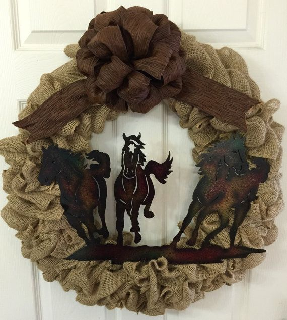 Handmade Horse Wreath, Made to Order!