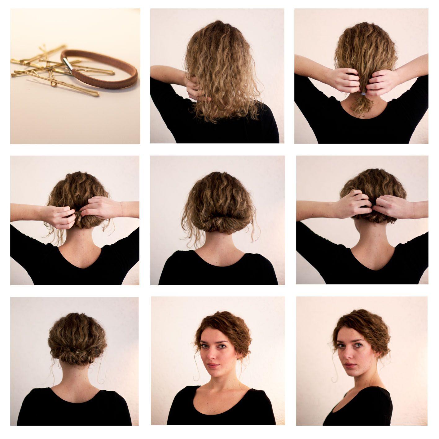 Updos For Short Hair Best Haircut Styles Frisur Hochgesteckt Hochsteckfrisur Lockige Frisuren