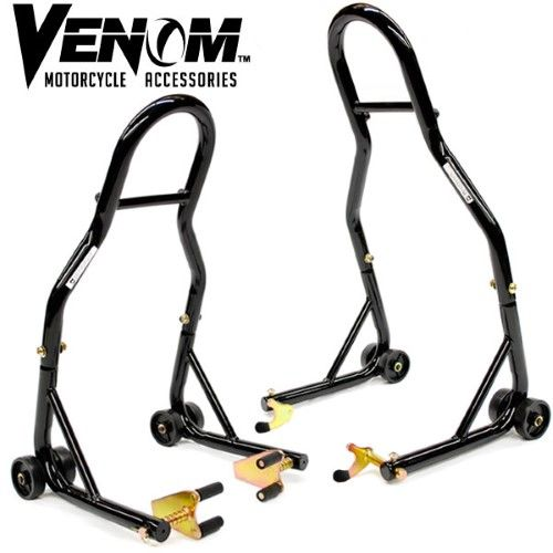 Venom® Motorcycle Front+Rear Spool Dual Lift Stand Combo