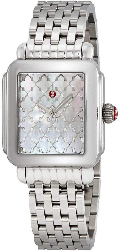 169ab3a94bb00a Michele Deco White Mother of Pearl Mosaic Dial Ladies Watch in 2019 ...