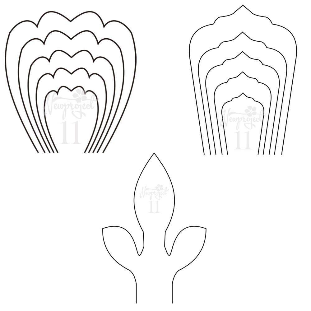 paper flower templates free pdf