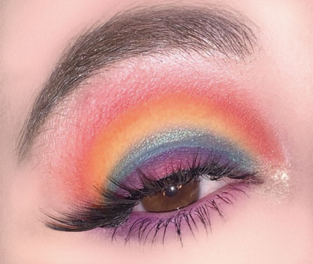 Rainbow pride eye look Eye makeup, Rainbow pride, Makeup