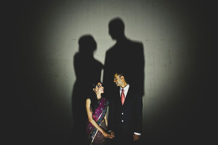shadows and wedding photos