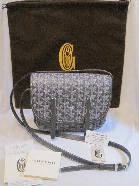 Authentic Goyard Grey Belvedere PM Crossbody/Shoulder Bag (New w/ Receipt/Tags)