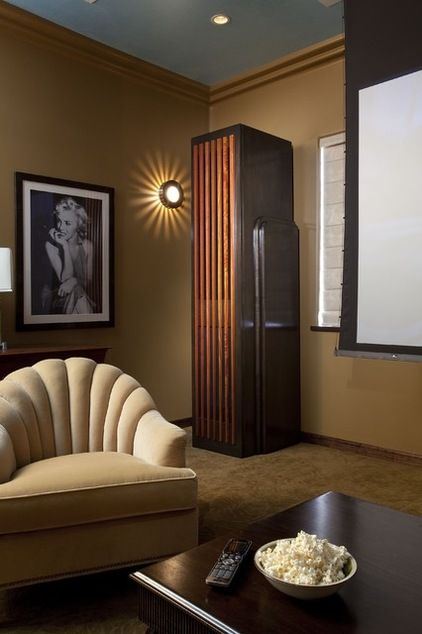 Eclectic Home Theater By Tongue Groove Modern Art Deco