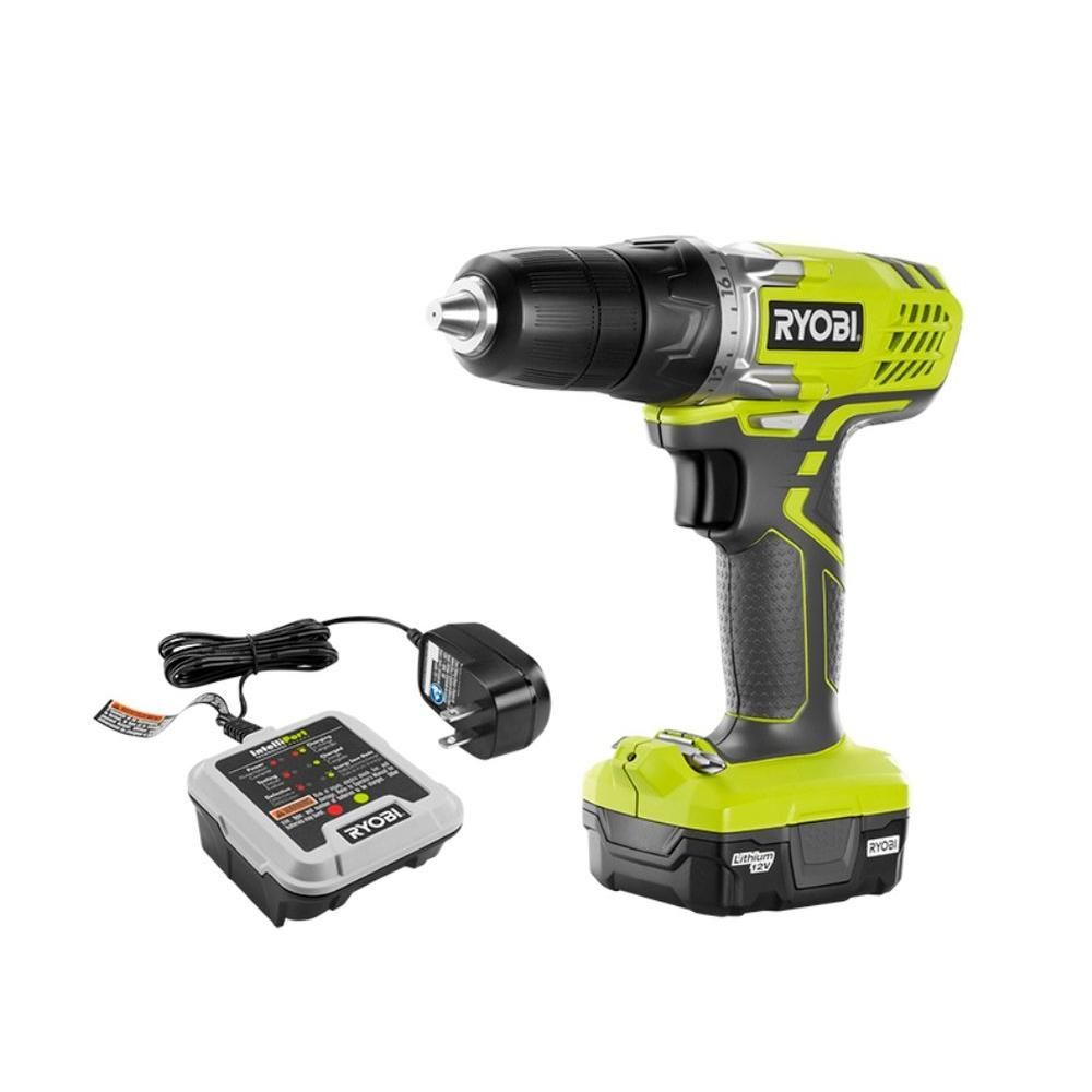 Ryobi 12 Volt Lithium Ion Cordless 3 8 In Drill Driver Kit With 12 Volt Battery And Charger Hjp004 Cordless Drill Drill Cordless Drill Reviews