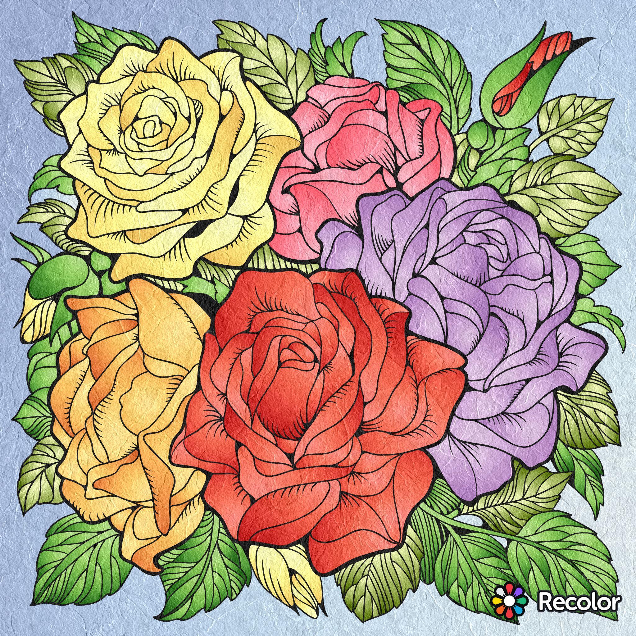 Pin by Angela Gurgu on Modele cu flori | Pinterest | Coloring books