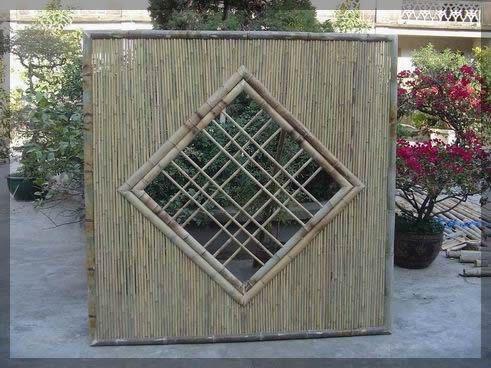 bamboo panel fence decorative fences