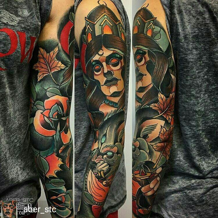 fd476944b aber_stc Amazing Neotraditional Portrait Tattoo | Tattoo ...