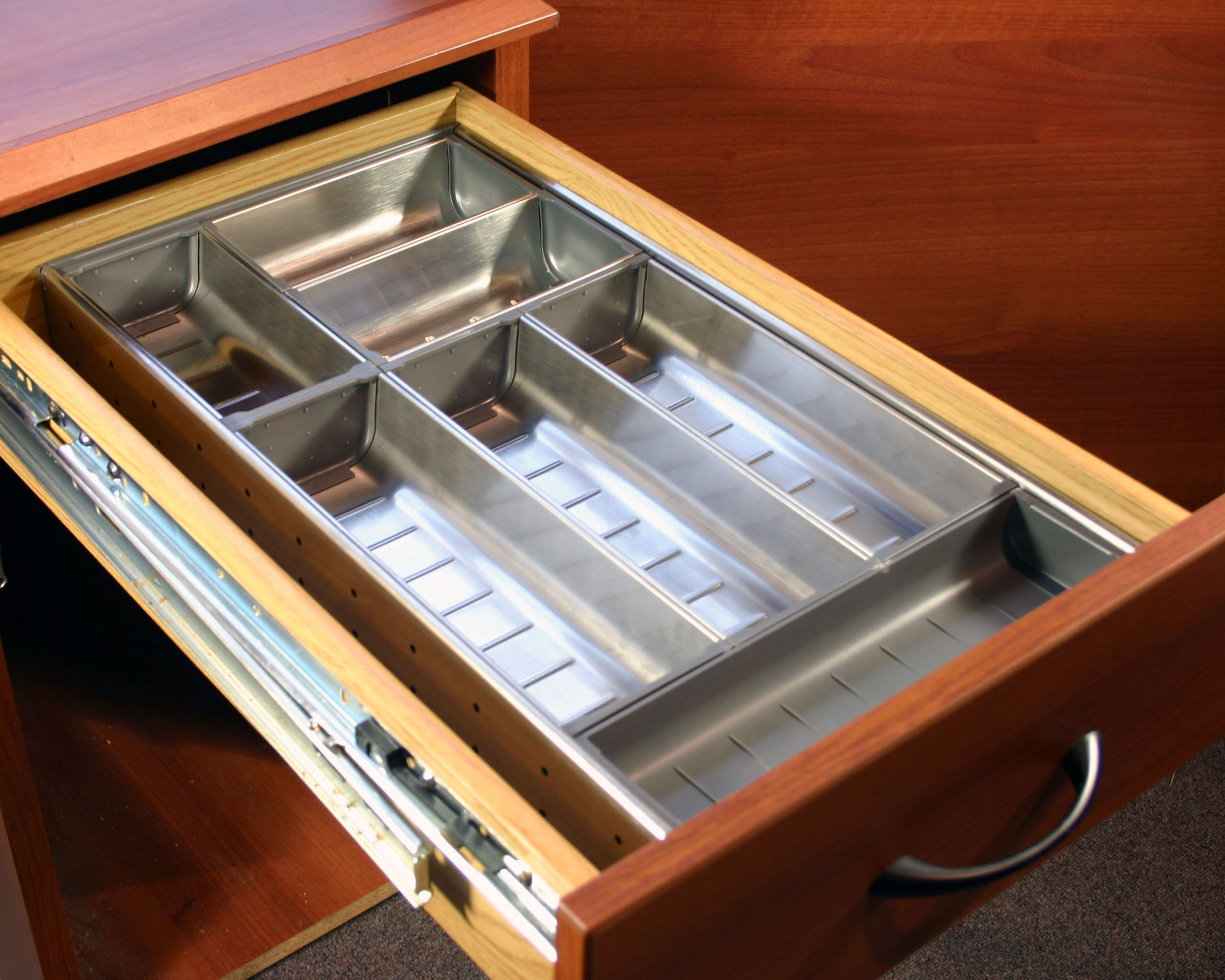 Kitchen Drawer Organizers - Stainless steel kitchen drawer organizers