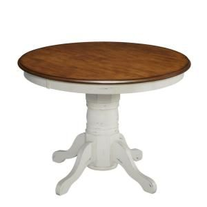 Homestyles French Countryside Oak And Rubbed White Dining Table