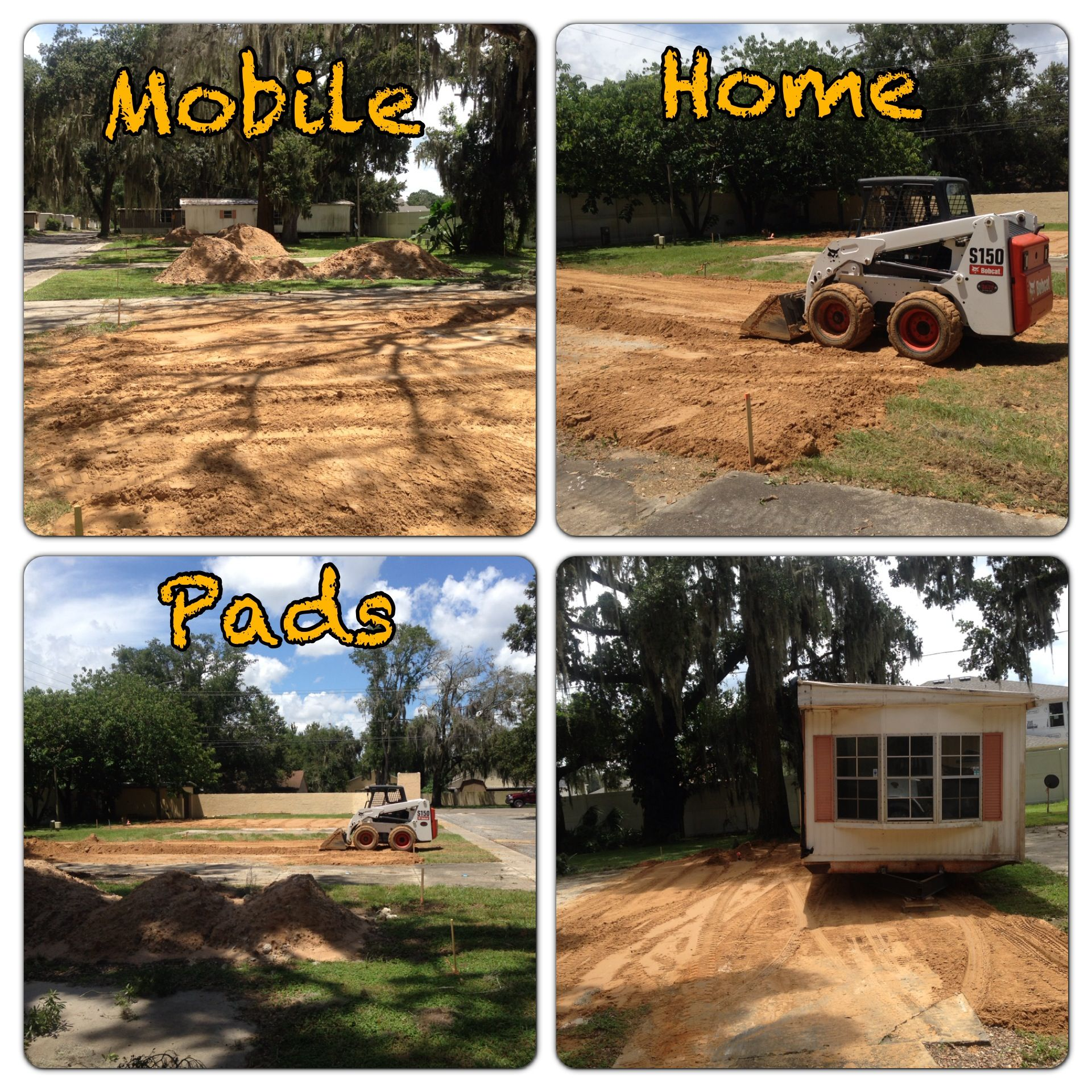 Mobile Home Pads on preformed concrete pads, motel pads, pier pads, make up pads, rv pads, garage pads, concrete step pads, sensor pads, paper pads, mobile fence, traction pads,
