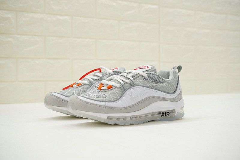 2a76a0b0af732b Virgil Abloh x Nike Air Max 98 The Ten Off White Light Grey Orange 640744 -101