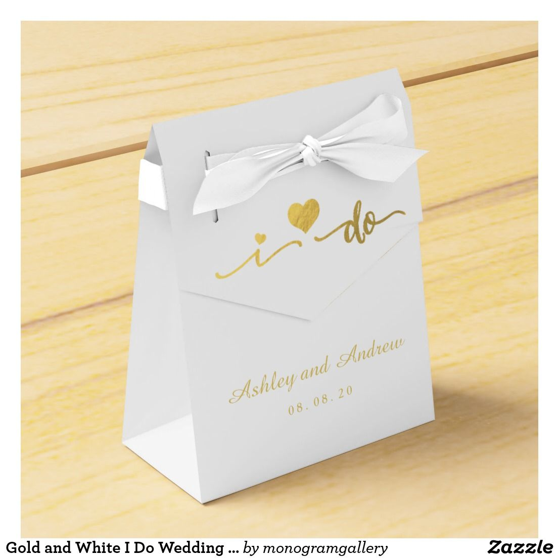 Gold and White I Do Wedding Favor Box | Favors, Weddings and Wedding