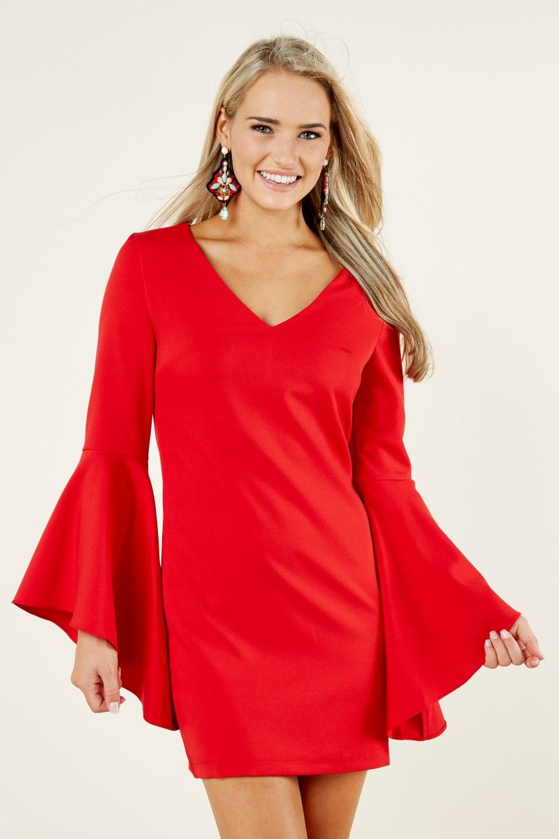 Date night red dress at reddressboutique homecoming