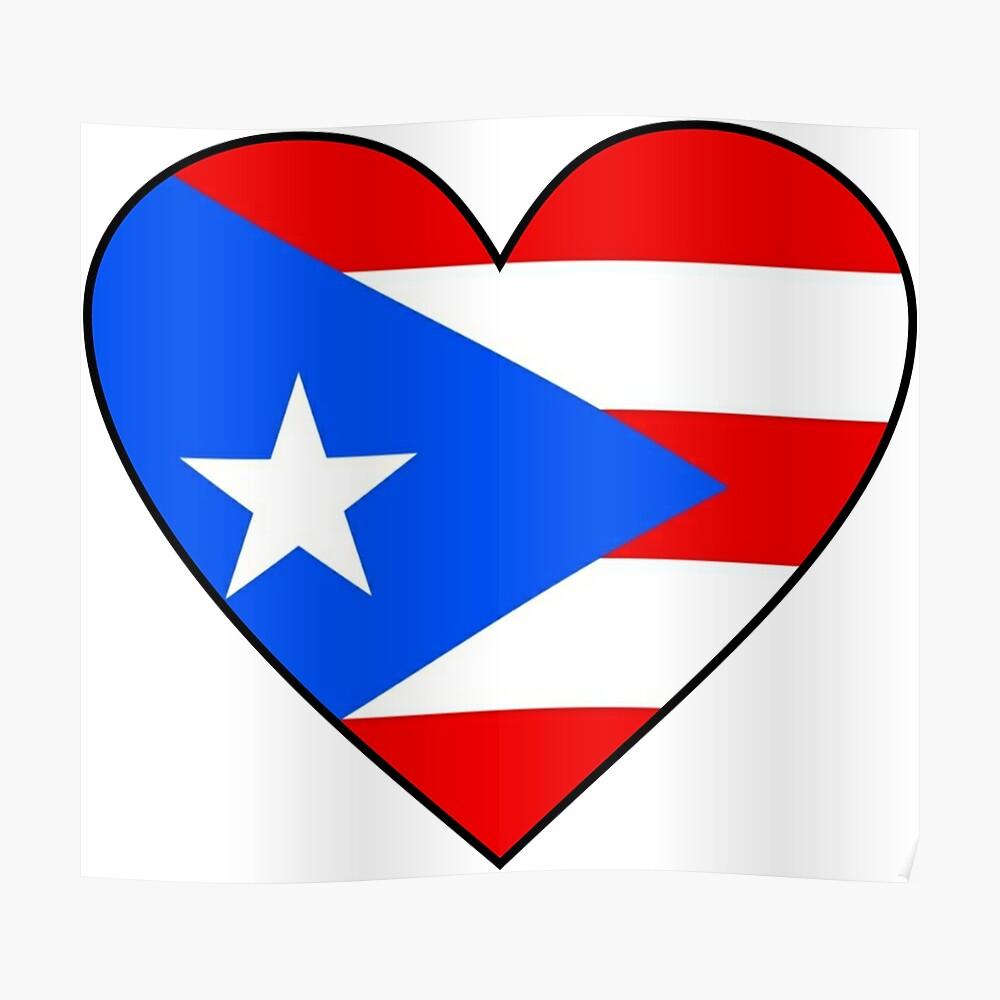 Puerto Rican Flag Love Puerto Rico Heart Bandera De Puerto Rico By Gracetee Redbubble In 2021 Patriotic Posters Patriotic Gifts Funny Posters