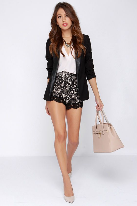 vendita calda online come trovare comprare Steady Lace High-Waisted Black Lace Shorts | Black lace shorts ...
