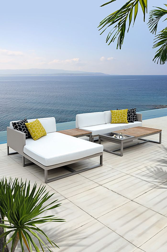 All Seating Pieces In Mamagreenu0027s Mono Collection Are Upholstered In  Leisuretex Fabric, An All Season Seam Sealed Material That Can Be Left  Outdooru2026