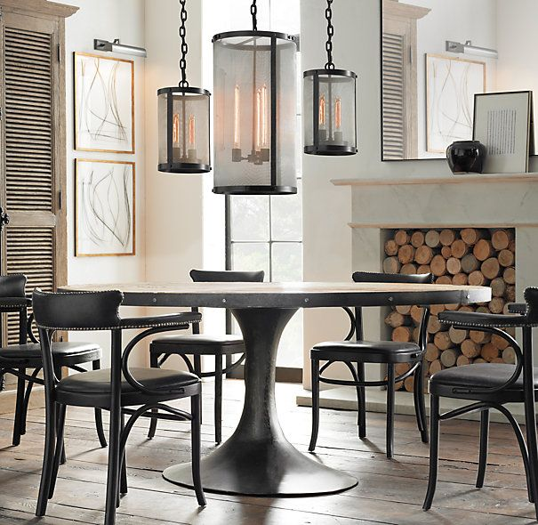 Paying Homage To The Sweeping Lines Of Midcentury Furnishings Captivating Restoration Hardware Dining Room Sets Review