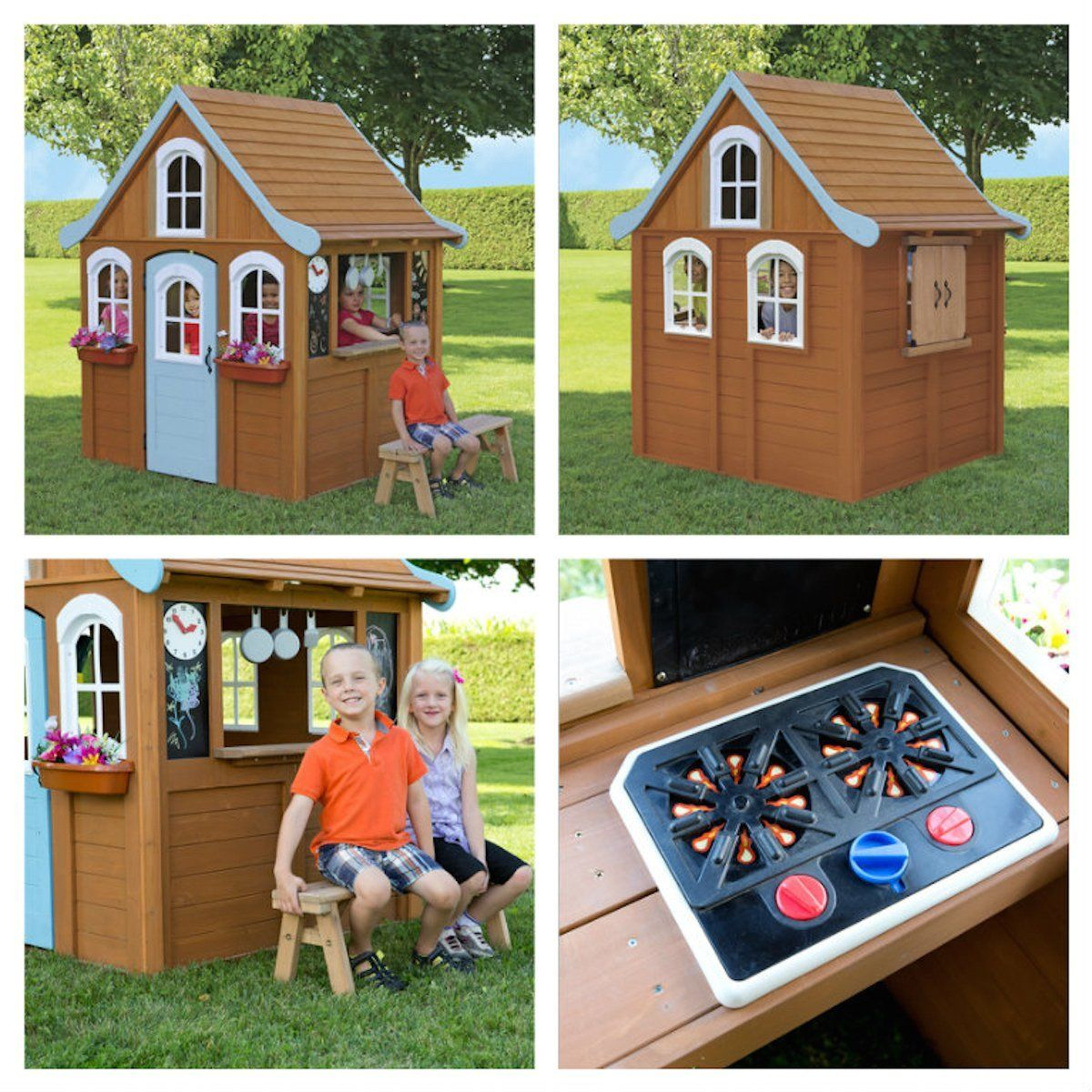 Playhouse for children in the country - photos and ideas