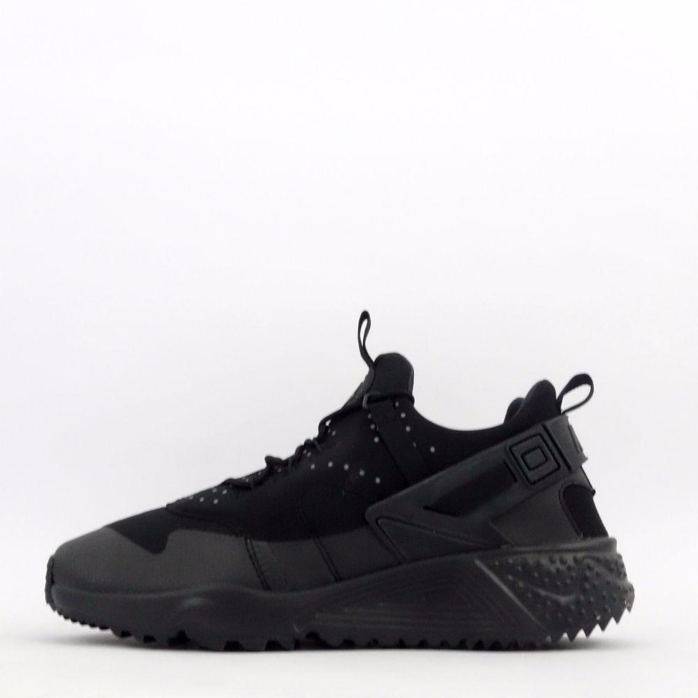 867ca2f9ed71a Nike Air Huarache Utility Mens Casual Trainers Shoes Sneakers Triple Black   Nike  CasualTrainersShoesSneakers