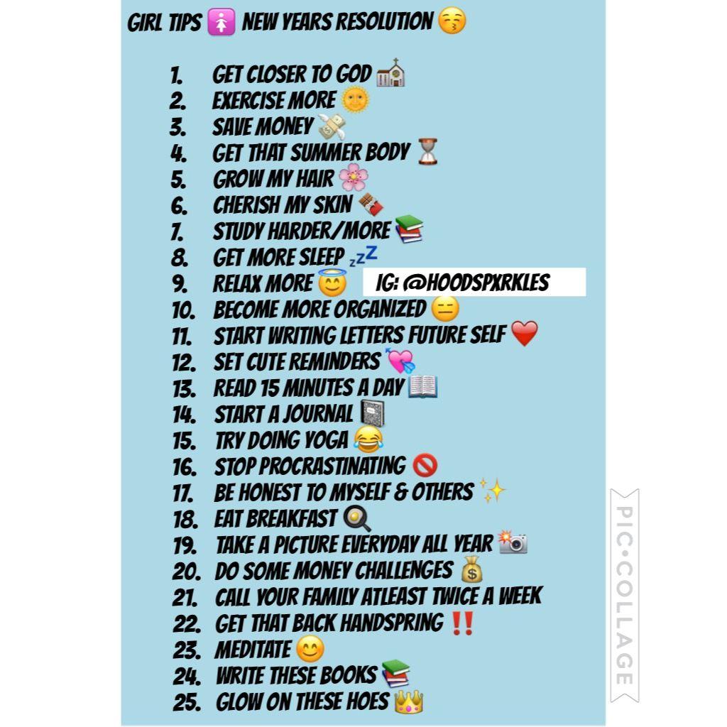 Finally a resolution list i like the littest