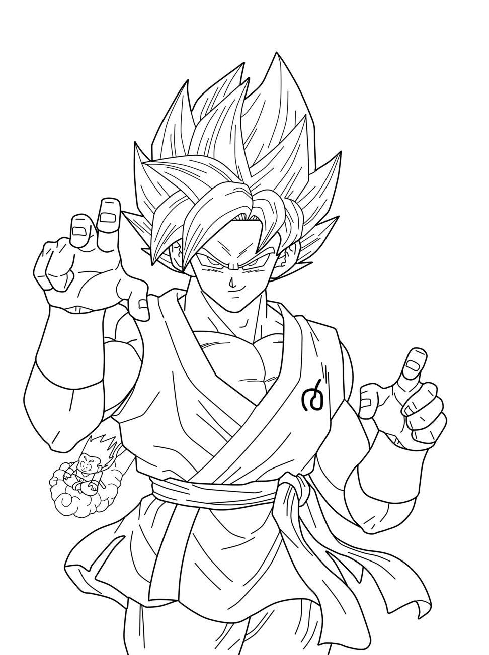 Coloriage De Dragon Ball Super | Dragon ball artwork ...