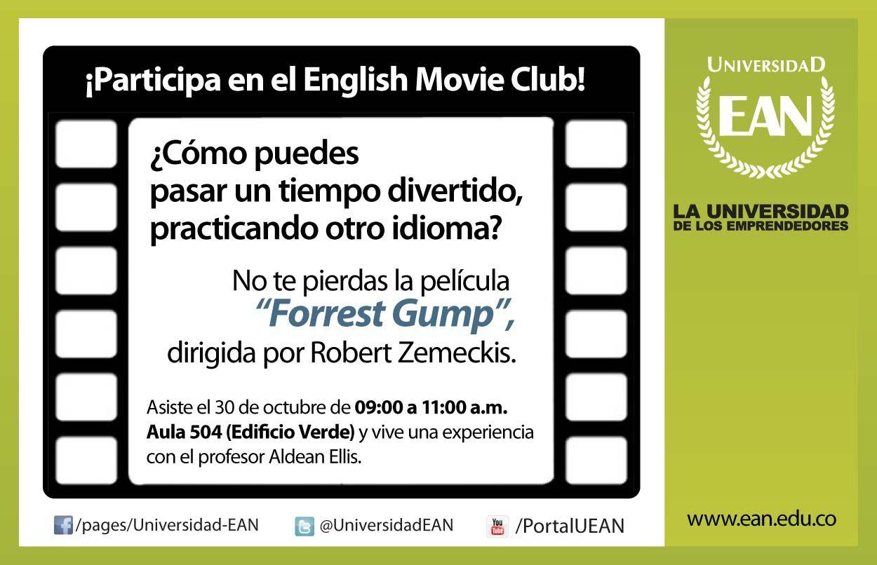 Te Esperamos Manana En El English Movie Club Con Forrest