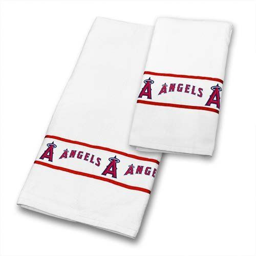 MLB Los Angeles Angels Bath Towel Set Anaheim Baseball Team Logo Bathroom  Accessories MLB Http: Mlb Detroit TigersBath ...