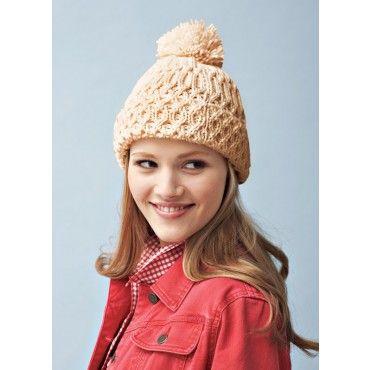 Mary Maxim - Free Knit Hat Pattern - Free Patterns - Patterns ...