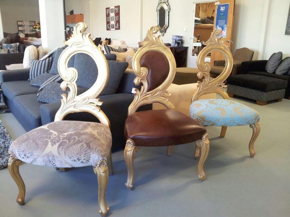 Swan Modern Platform Bed: Golden Swan Bedroom Chairs