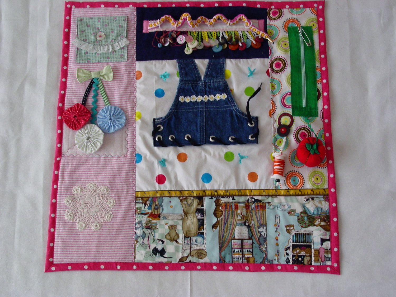 Busy Lady S Sewing Room Fidget Quilt Tactile Bright