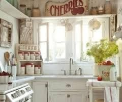 Image result for shabby chic kitchen cabinets