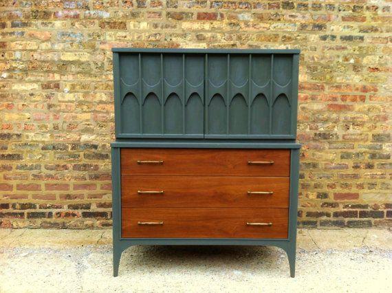 Image result for repurposed mid century dresser Furniture