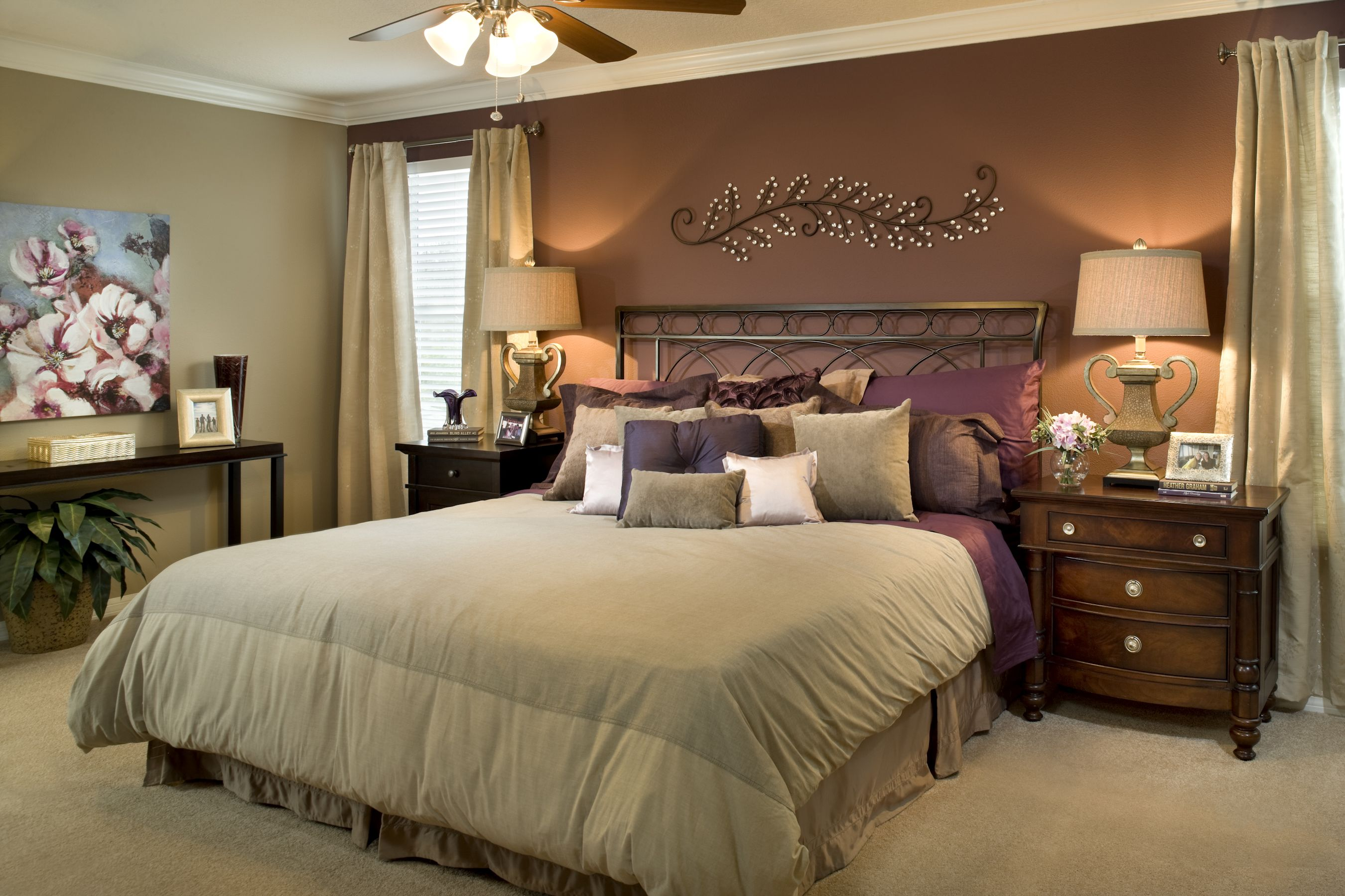 Beautiful Bedroom Accented With Lilac Decor In The Monaco