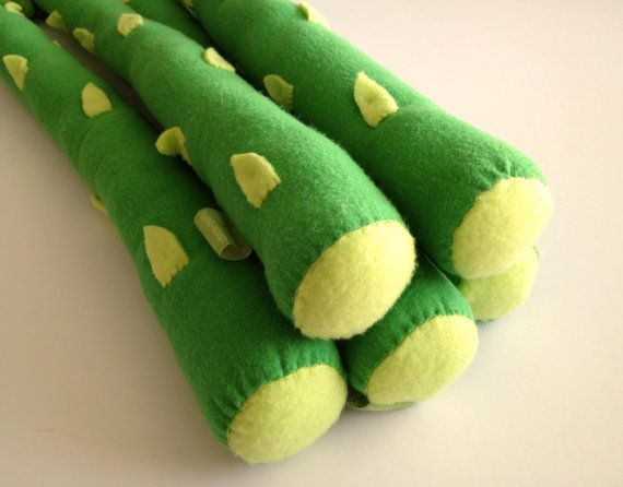 Giant Stuffed Asparagus Set Of Three By Jumbojibbles On Etsy