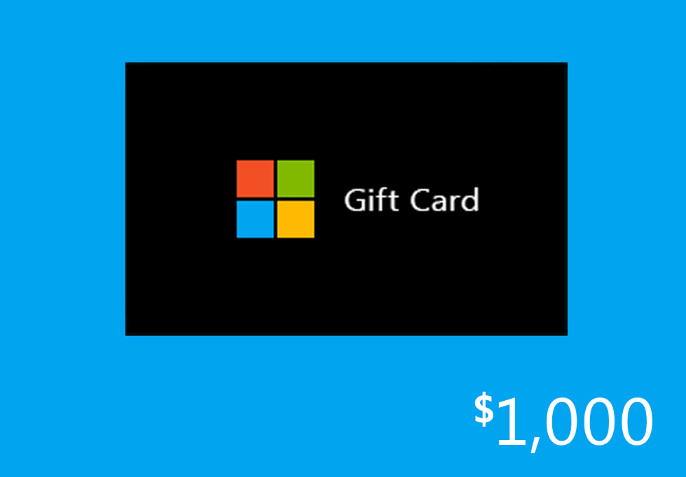 Sweepstakes Win A 1 000 Gift Card To Microsoft Microsoftrewards Redemption Giftcards Xbox Gift Card Gift Card Generator Store Gift Cards