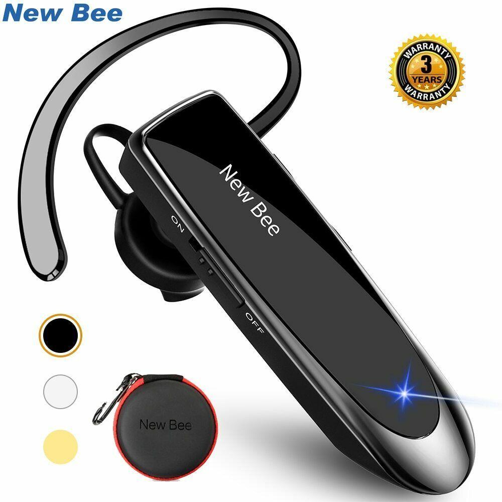 New Bee Bluetooth Headset Bluetooth 5 0 Earpiece Hands Free Headphone Mini Wirel Ebay Wireless Earphones Bluetooth Device Bluetooth Headset