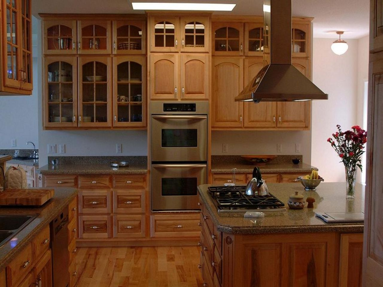 Image result for painted maple cabinets with colorful ... on Natural Maple Kitchen Backsplash Ideas With Maple Cabinets  id=51619