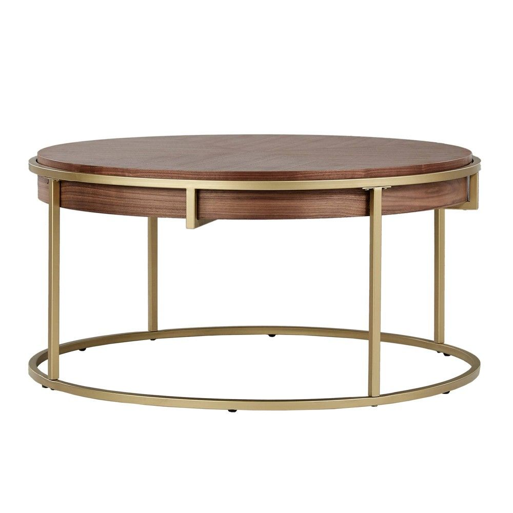 Ervyn Coffee Table With Gold Metal Base Natural Finish Inspire Q In 2021 Coffee Table Coffee Table Wood Gold Coffee Table [ 1000 x 1000 Pixel ]