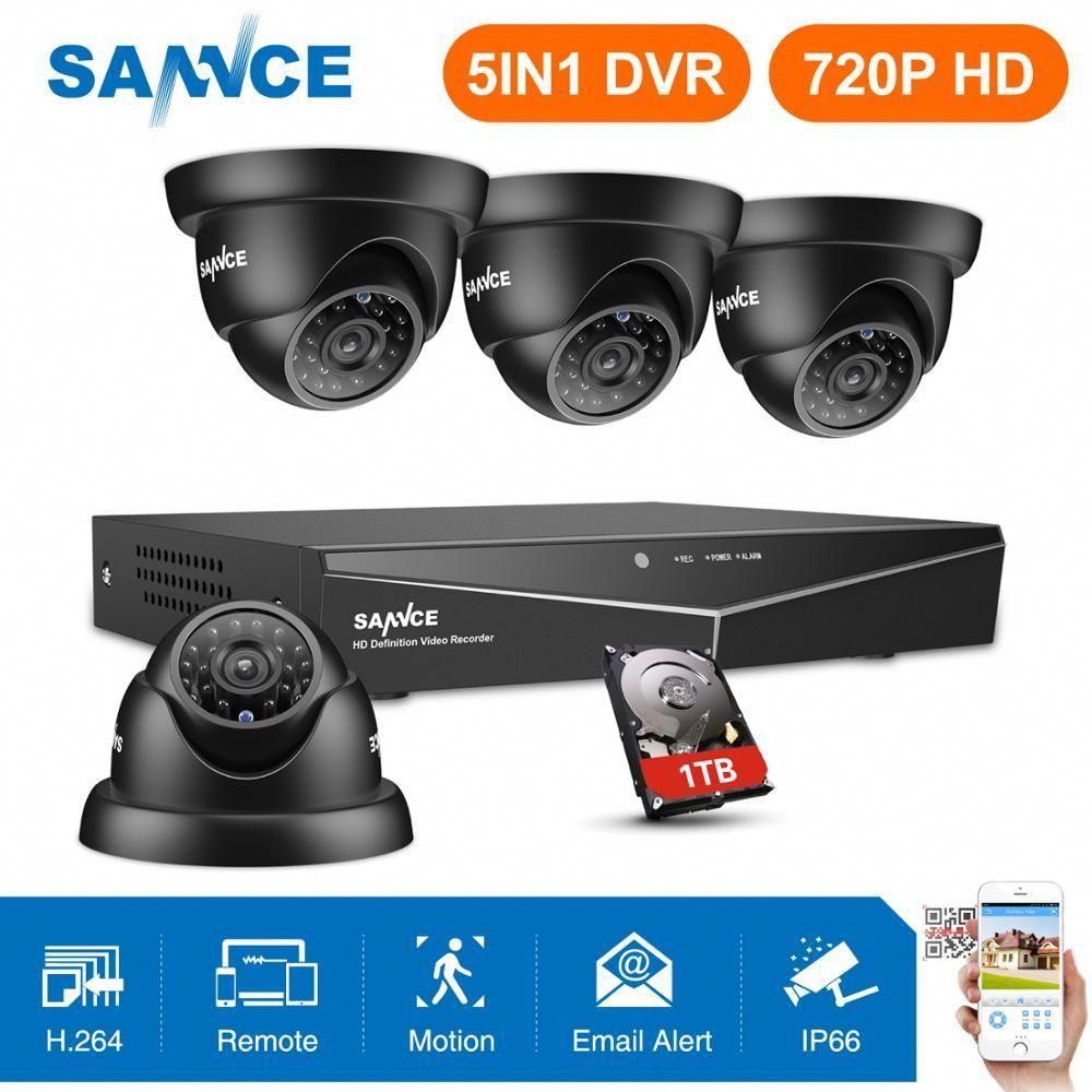 Cctv System 4pcs 8ch 1080n Hdmi Dvr Security Cameras Ir Indoor Waterproof Outdoor Video Surveillance Cct Security Cameras For Home Cctv Kits Video Surveillance