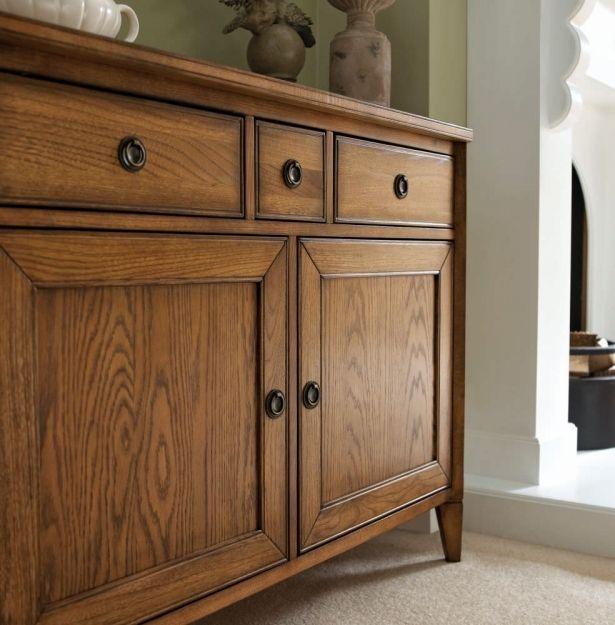 Bentley Designs Sophia Oak Sideboard Narrow Dark Wood