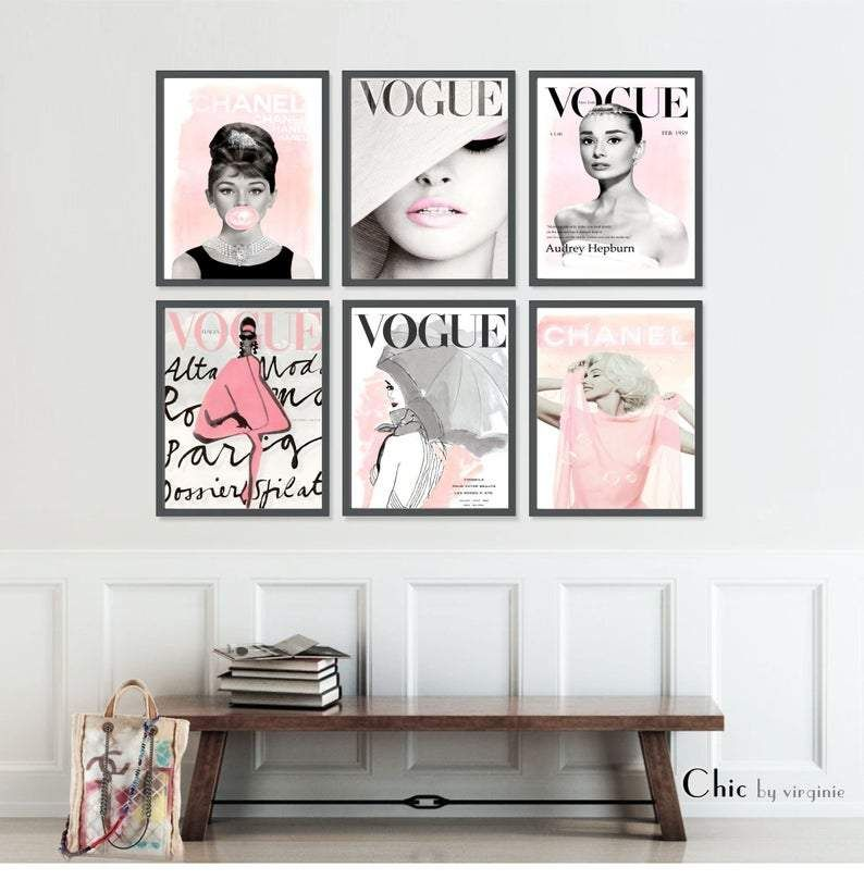 Fashion Wall Art Set Of 6 Prints Vogue Posters
