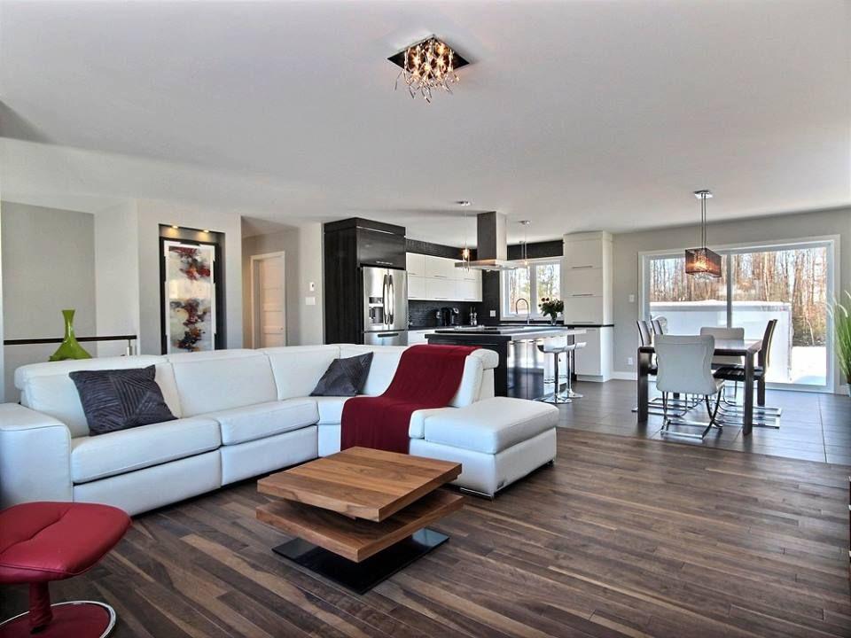 Epingle Par Deco Surfaces Trois Rivieres Sur Plancher Bois Franc Modele Maison Maison Salon