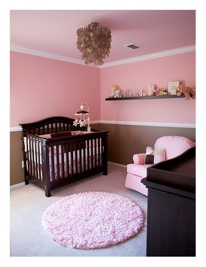 Brown And Pink Girls Room