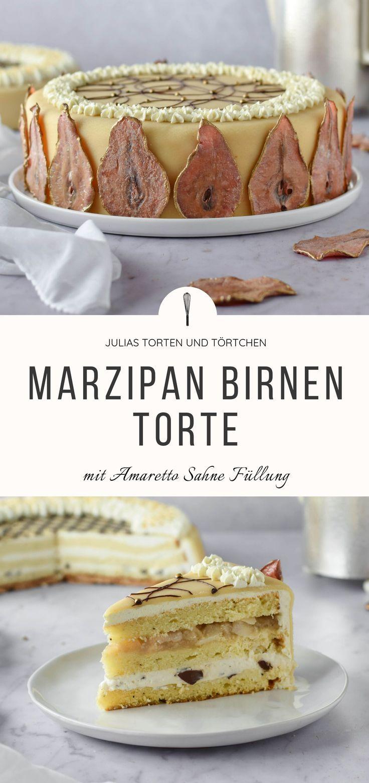 "Photo of Marzipan Pear Cake with Amaretto Cream – ""Classic reinterpreted"""