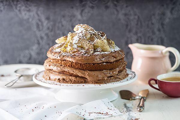 Birnen-Schokoladenmousse-Torte - Coopzeitung - Die grösste Wochenzeitung der Schweiz