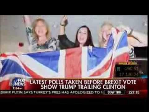 RT News : Latest Polls Taken Before BREXIT Vote Show Trump Trailing Clinton - Cavuto